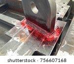 liquid penetrant test for... | Shutterstock . vector #756607168