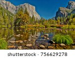 yosemite fall 2017 | Shutterstock . vector #756629278