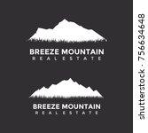 mountain real estate logo... | Shutterstock .eps vector #756634648