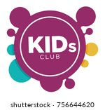 kids zone logo template of... | Shutterstock .eps vector #756644620
