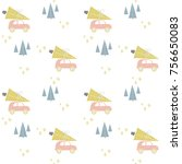 cute pattern in nordic style... | Shutterstock .eps vector #756650083