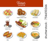 turkish cuisine food and...   Shutterstock .eps vector #756650266