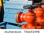 fire monitor valves painted in... | Shutterstock . vector #756652498
