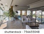 hotel lobby cafe interior | Shutterstock . vector #756655048