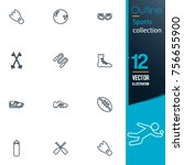 sport vector collection icon set | Shutterstock .eps vector #756655900