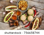 concept of eating outdoors.... | Shutterstock . vector #756658744