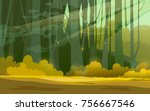 Sunny Forest Background. Vector ...