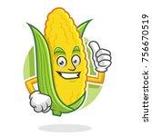 corn character design or mascot ... | Shutterstock .eps vector #756670519