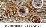 pouring beer.glasses with beer... | Shutterstock . vector #756672424