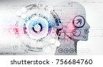 creative brain concept... | Shutterstock .eps vector #756684760