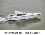 yacht on the sea. finland lakes.... | Shutterstock . vector #756691894