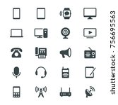 communication device glyph icons | Shutterstock .eps vector #756695563