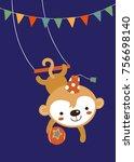 vector illustration of circus...   Shutterstock .eps vector #756698140