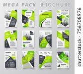 mega pack brochure design...   Shutterstock .eps vector #756708976