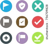 origami corner style icon set   ... | Shutterstock .eps vector #756709828