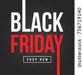 black friday sale background... | Shutterstock .eps vector #756719140