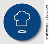 chef hat and moustache sign....   Shutterstock .eps vector #756727696