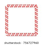 christmas and new year candy... | Shutterstock .eps vector #756727960