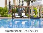 swimming pool in spa resort .... | Shutterstock . vector #75672814