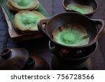kue ape pandan. traditional... | Shutterstock . vector #756728566