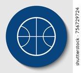 basketball ball sign...   Shutterstock .eps vector #756729724