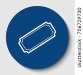 ticket sign illustration.... | Shutterstock .eps vector #756729730