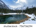 beautiful tatra mountains view... | Shutterstock . vector #756736294