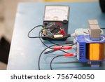 equipment in learning of... | Shutterstock . vector #756740050
