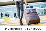 passenger walking  at the... | Shutterstock . vector #756745000