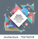 abstract geometric pattern... | Shutterstock .eps vector #756746518