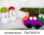 car transport pine tree for... | Shutterstock . vector #756750274