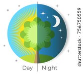 day and night conceptual vector ... | Shutterstock .eps vector #756750559