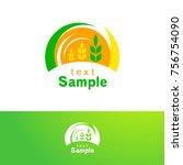 wheat logo design template ... | Shutterstock .eps vector #756754090