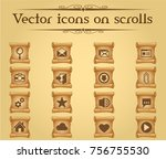 user interface vector icons on... | Shutterstock .eps vector #756755530
