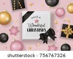 christmas banner design with... | Shutterstock .eps vector #756767326
