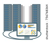 data centre icon of computer... | Shutterstock .eps vector #756768364