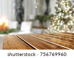 a nice christmas tree with a... | Shutterstock . vector #756769960