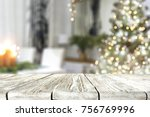 a nice christmas tree with a... | Shutterstock . vector #756769996