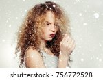 youth and beauty concept  ... | Shutterstock . vector #756772528