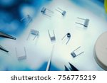 titanium wire for electronic... | Shutterstock . vector #756775219