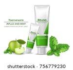 toothpaste realistic vector...   Shutterstock .eps vector #756779230