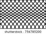 black wire mesh lines net on... | Shutterstock .eps vector #756785200