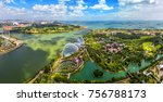 bird eyes view of singapore... | Shutterstock . vector #756788173