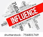 influence word cloud collage ... | Shutterstock .eps vector #756801769
