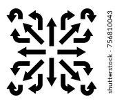 black arrows set  various... | Shutterstock .eps vector #756810043