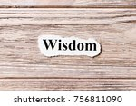 wisdom of the word on paper.... | Shutterstock . vector #756811090