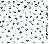 vector seamless pattern with... | Shutterstock .eps vector #756814654