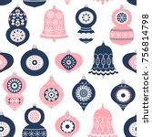 vector seamless holiday pattern ... | Shutterstock .eps vector #756814798