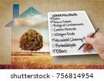 hand write a check list of... | Shutterstock . vector #756814954