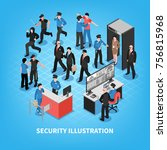 security system composition... | Shutterstock .eps vector #756815968